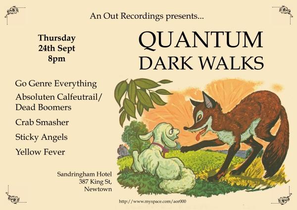 quantum dark walks
